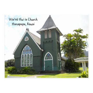 Wai'oli Hui ia Church Postcard
