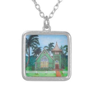 Wai'oli Hui'ia Church Silver Plated Necklace