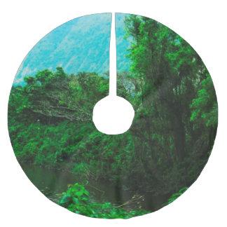 Waipio River Hawaii Brushed Polyester Tree Skirt