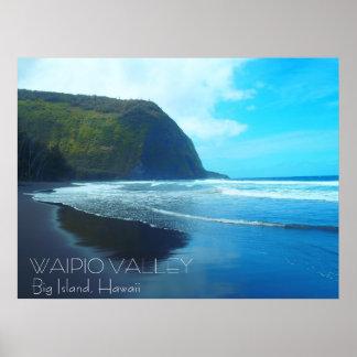 Waipio Valley Big Island Hawaii scenic poster