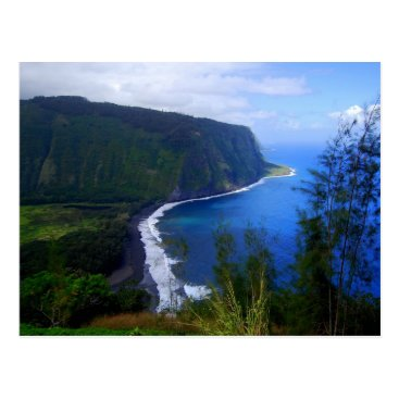 Beach Themed Waipio Valley Lookout Postcard