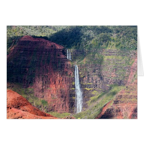 Waipoo Falls in Waimea Canyon on Kauai Card