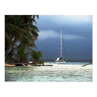 Waisaladup (Green) Island, Kuna Yala, Panama Post Card
