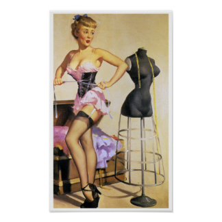 Waistline Pin Up Posters