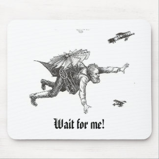 Wait: Flying Man Mousepad