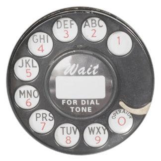 Wait For Dial Tone Melamine Plate