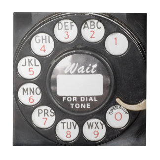 Wait For Dial Tone Small Square Tile