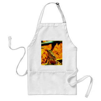 Wait for love frill necked lizard adult apron