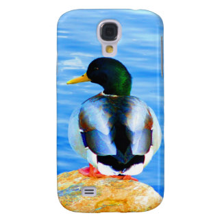 Wait for love peace and joy duck water bird samsung galaxy s4 cover