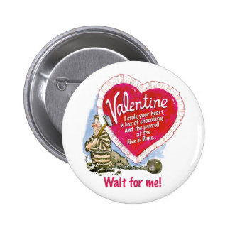 Wait For Me 2 Inch Round Button