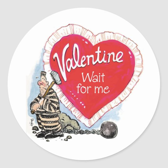 Wait For Me Classic Round Sticker