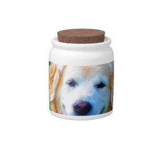 Wait for mom love joy  golden retriever dog candy jars