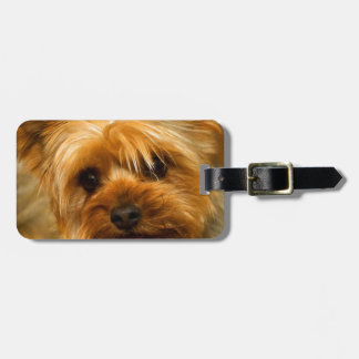 Wait for mom love Yorkie Terrier dog Luggage Tags
