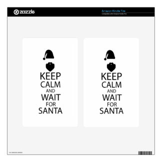 WAIT FOR SANTA KINDLE FIRE DECAL