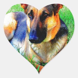 Wait for you love german shepherd heart sticker