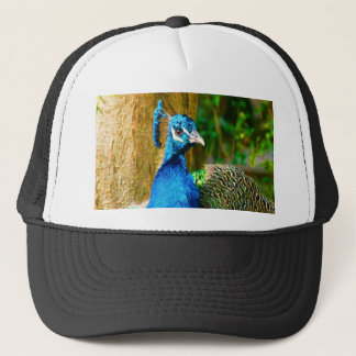 Wait for you my  love peacock trucker hat