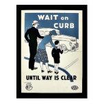 Wait On Curb Postcard