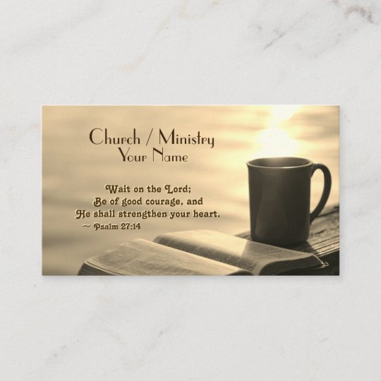 Wait On The Lord Inspirational Verse Business Card