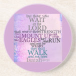 Wait on the Lord Scripture Isaiah 40:31 Drink Coaster