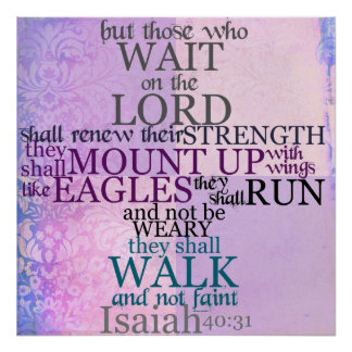 Wait on the Lord Scripture (Isaiah 40:31) Print