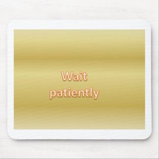 Wait patiently mouse pad