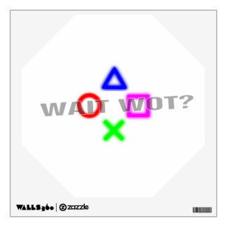 Wait Wot Console Wall Decal
