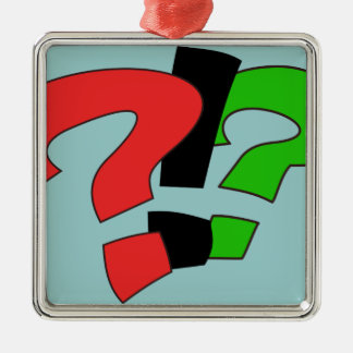 Wait. Wut? Seriously? Square Metal Christmas Ornament