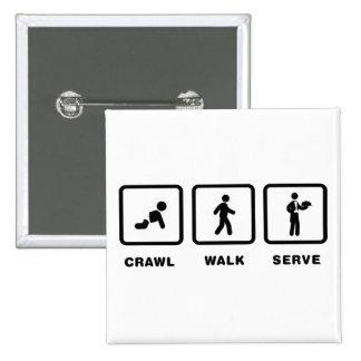 Waiter Pinback Button