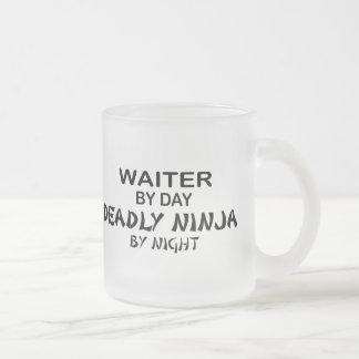 Waiter Deadly Ninja by Night Coffee Mugs