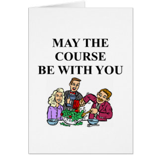 WAITER joke Greeting Card