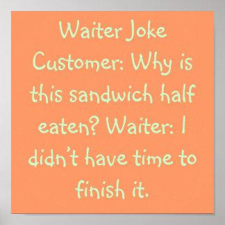 Waiter Joke Posters