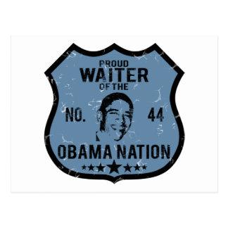 Waiter Obama Nation Postcard