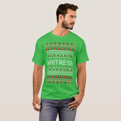 Waiter Profession Ugly Christmas Sweater Tshirt After Christmas Sales 3324