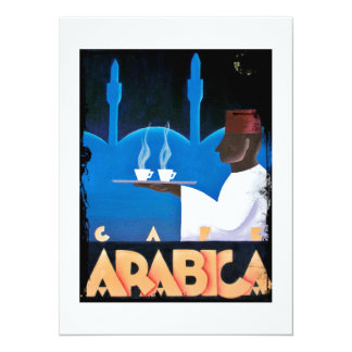 Waiter Serves Arabica Espresso Card