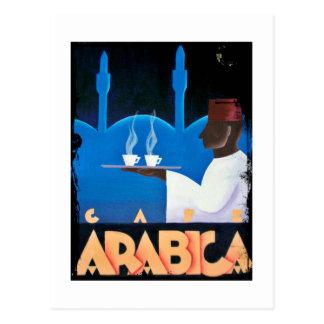 Waiter Serves Arabica Espresso Postcard