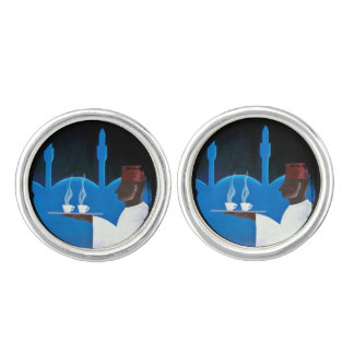 Waiter Serving Arabica Coffee Cufflinks