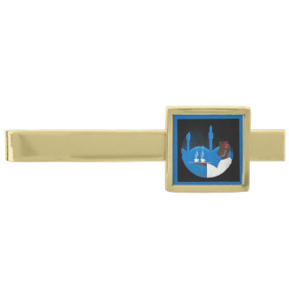 Waiter Serving Arabica Coffee Gold Finish Tie Bar