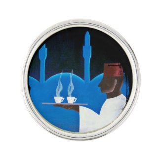 Waiter Serving Arabica Coffee Lapel Pin