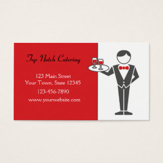 Waiter Serving Drinks Business Card
