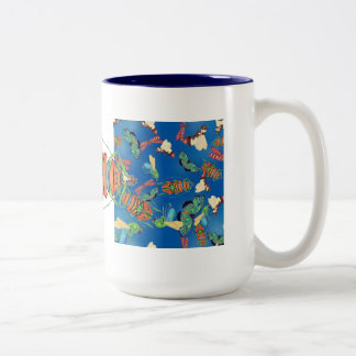 Waiter, there is a bg in my soup Two-Tone coffee mug