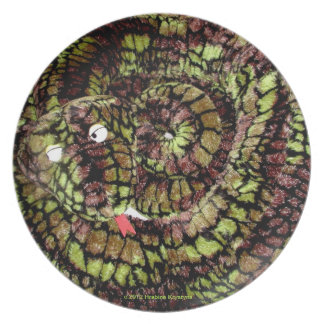 WAITER! THERE'S A SNAKE ON MY PLATE. DINNER PLATE