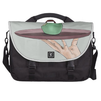 Waiter's Hand Serving an Eaten Pear on a Tray Commuter Bags