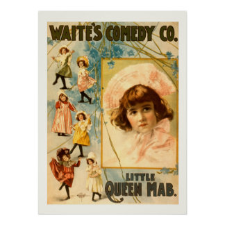 Waite's Comedy Co. Little Queen Mab Vintage Comedy Poster