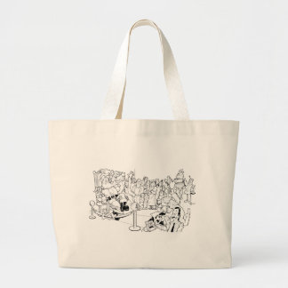 Waitin' in Line.... Large Tote Bag