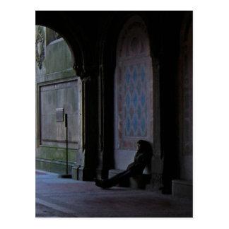 Waiting at Bethesda Terrace Postcard