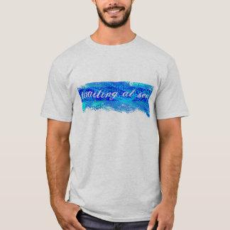 Waiting at Sea Blue Splotch Shirt