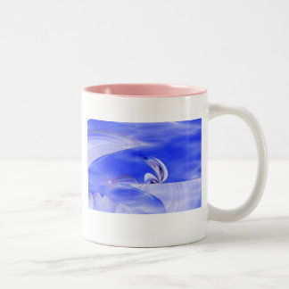 Waiting At The Frost Line Two-Tone Coffee Mug
