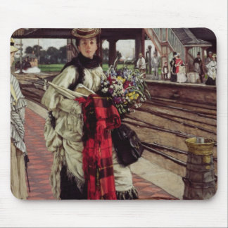 Waiting at the Station Mouse Pad