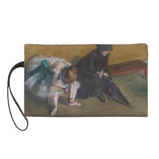 Waiting by Edgar Degas Wristlet