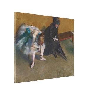 Waiting by Edgar Degas Canvas Print